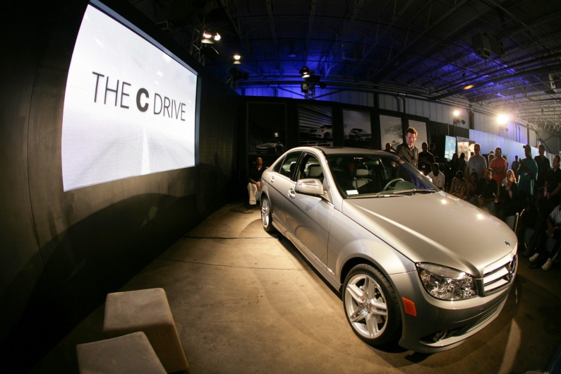 Mercedes Benz offers new C-Class driving experience.