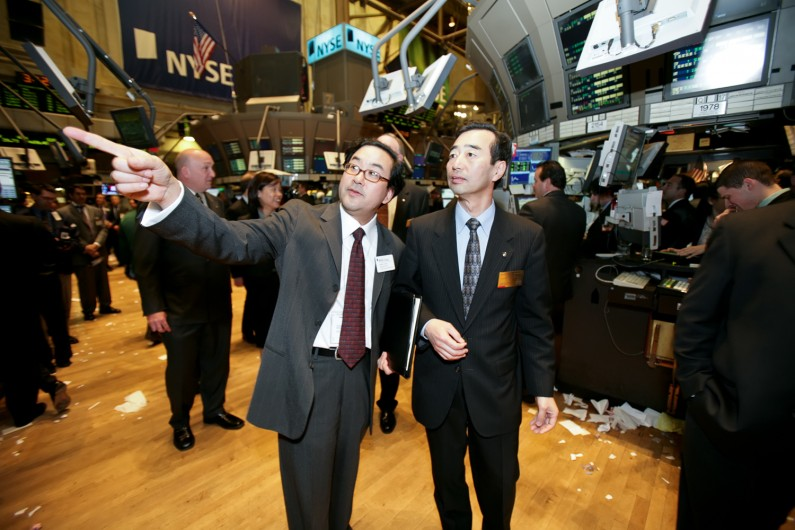Yoshi Yamada, Chairman & CEO, Panasonic Corporation of North America tours NYSE.