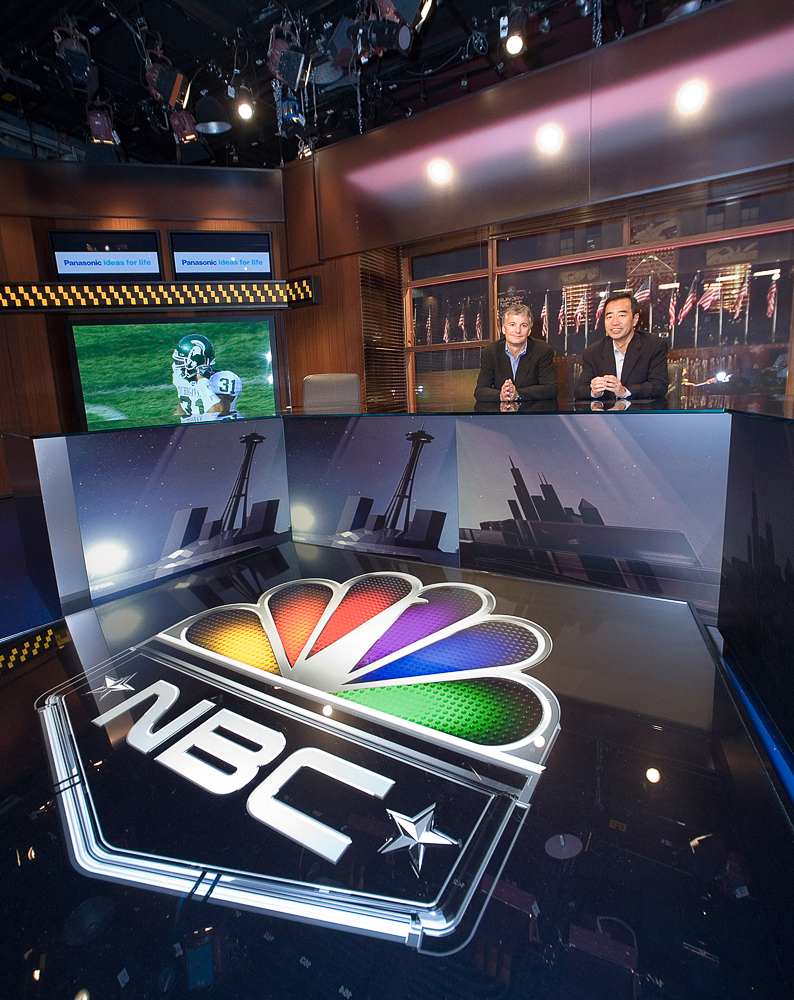 "Panasonic 103"" Plasma Televisions at NBC Sports' ""Football Night in America"" Studios."