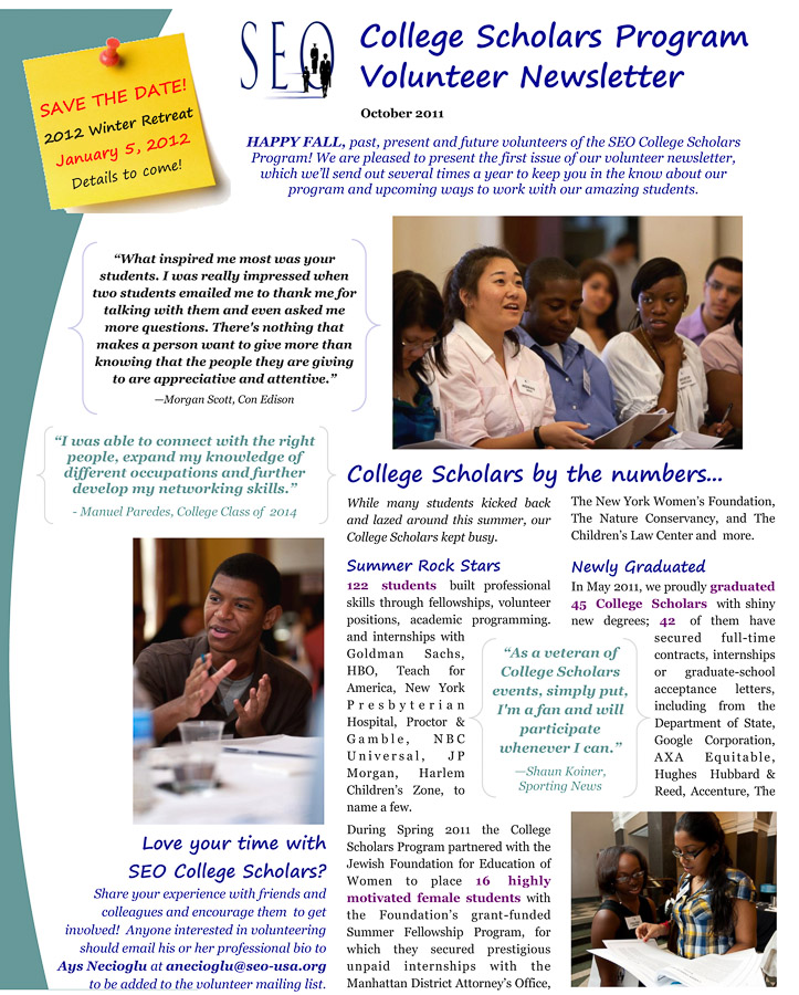 SEO-College-Scholars -Volunteer-Newsletter-201110