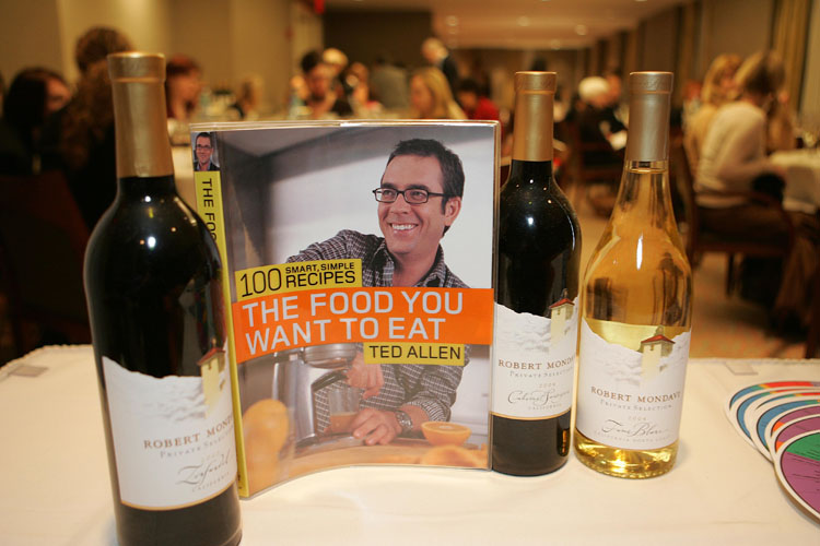 "Women for WineSense presented an Evening with Ted Allen. An ""Essence Tasting"" of Robert Mondavi Private Selection and a Book Signing at Jolly Hotel Madison Towers."