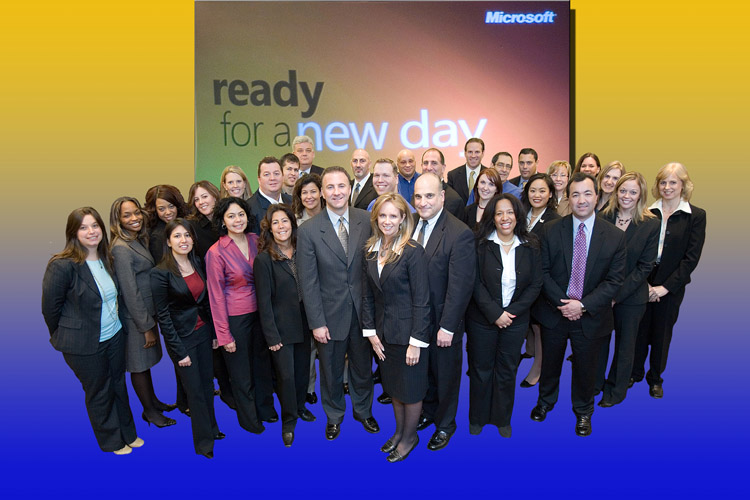 Group Portrait Microsoft SMS&P Launch NYC